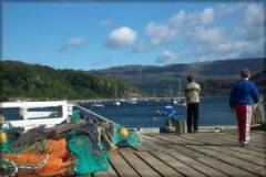 Tighnabruaich Pier - port of call for Waverley